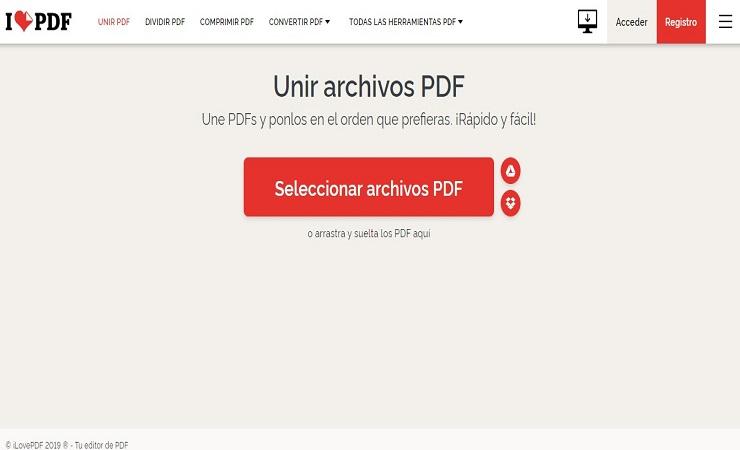 unir archivos pdf en un solo documento