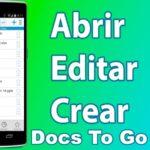 Aplicación para Abrir Archivos En Android - Docs To Go