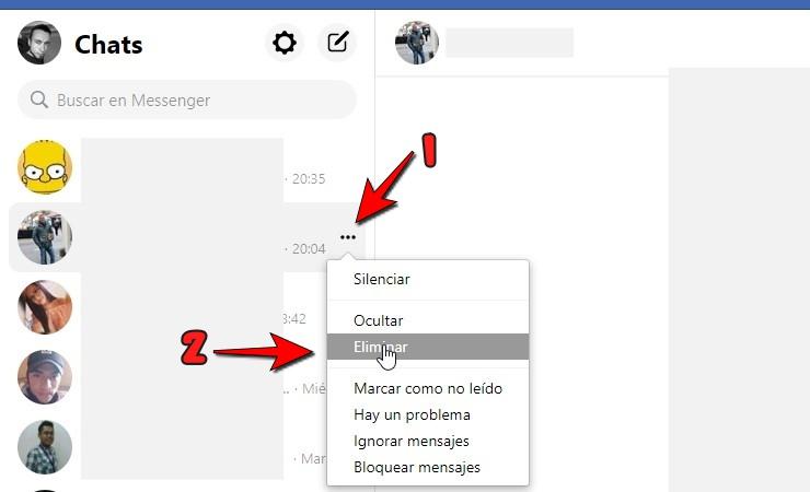 como eliminar mensajes de messenger para todos  después de horas