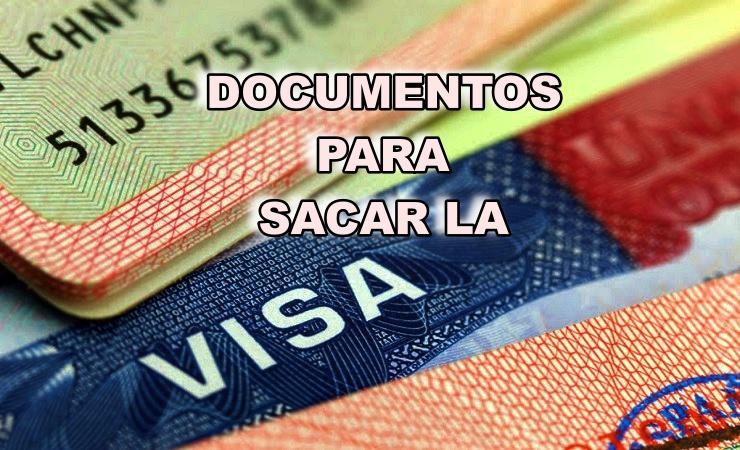 Documentos para pedir la visa