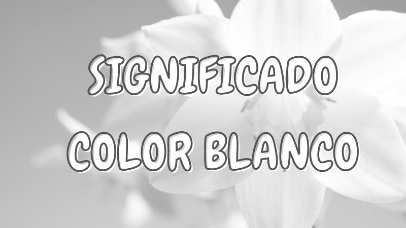 que representa el color blanco